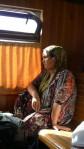 Valle de Fergana (lado uzbeko) - Mujer en tren local