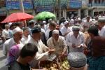 Escena del bazar de Kashgar