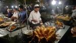 Kasghar. Mercado nocturno de la comida