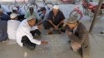 Damas chinas en el bazar de Turfan