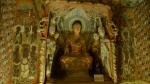Interior de una cueva, grutas de Mogao. En realidad es una replica que hay en el museo. Para entrar a las autenticas cuevas te requisan la camara.