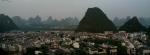 Yanshuo visto desde una de las colinas karsticas