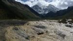 Las nieves perpetuas del monte Huanglong culminan el valle