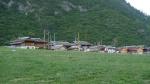 Aldea tibetana dentro del parque nacional de Juizhagou