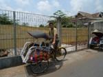 El ciclorikshaw oficial del Barça en Yogyakarta