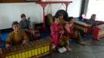 Grupo de música tradicional (gamelán) en Prambanam