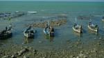 Barcas de pesca varadas