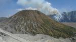 En el interior de la caldera, vista desde la cumbre del Bromo. Infernal