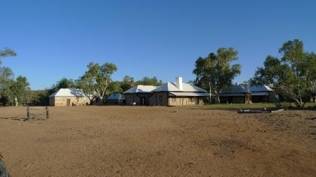 La estación telegráfica de Alice Springs, el primer asentamiento permanante del hombre blanco en el interior de Australia.